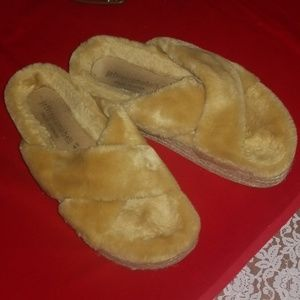 Soft fuzzy Jeffery Campbell sandals